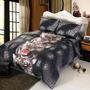 4pc 3d Negro Tigre Queen Size Juego De Cama Funda Nórdica