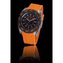 Reloj Time Force Hombre Mod.tf4026m12 3h- Naranja