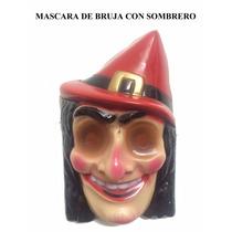 Mascara De Bruja Con Sombrero Dia De Muertos