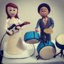 Novios Personalizados Pastel De Bodas - Torta - Topes