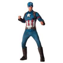 Disfraz Lujo Capitan America Hombre Traje Adulto Civil War