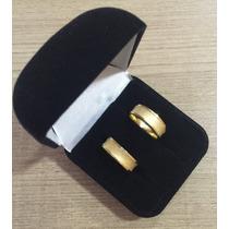 Par De Aliança Em Ouro 18k 6mm