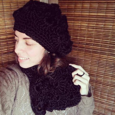 Gorro De Lana Mujer Crochet Boina Tejido Artesanal Invierno -   800 ... 74627e12ba9