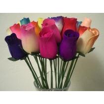 2 Docena 24 Color Mixto Ramo De Madera Brotes Rose Flor Arti