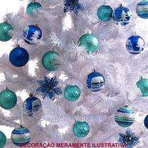 Árvore De Natal Em Fibra Ótica Branca 60 Cm