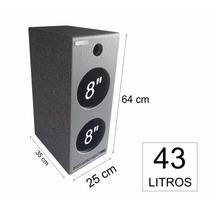 Caixa De Som Home Theater Torre Pelego Box 43 Litros 2 X 8