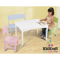 Tabla Kidkraft Nantucket Con Un Banco Y 2 Sillas - Pastel