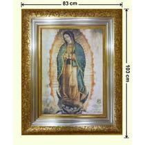 Cuadro Hoja De Oro Y Plata, Lienzo, Virgen, 83x103cm