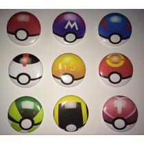 Pokebola Pokemon - Kit Com 9 Buttons