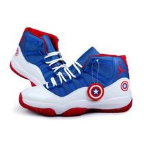 Zapatos Botas Jordan Retro Capitan America Precio De Locura!