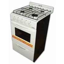 Cocina Escorial Candor 50cm Blanca 4 Hornallas C/valv Seg