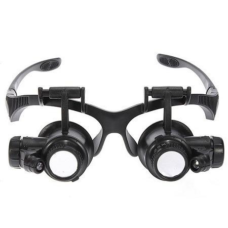 Óculos Lupa C  Luz Própia P  Eletrônica Zoom 10x 15x 20x 25x - R  60,00 em  Mercado Livre d2ed5ebe42