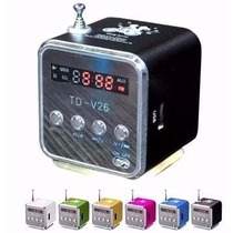 Super Caixa De Som Amplificada Td-v26 Usb Micro Sd Fm Mp3