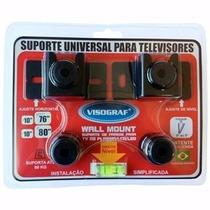 Suporte De Parede Tv De Plasma/led/lcd 10 Até 80 Visograf