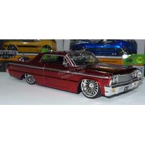 1:24 Chevrolet Impala 1964 Rojo Jada Ranfla Display *
