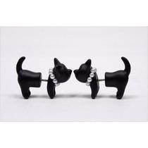 Aros Gato Perlas Negro