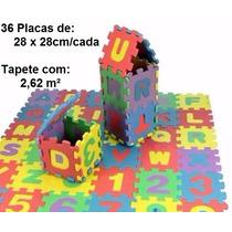 Tapete Eva Educativo Infantil Emborrachado 36 Peças 28x28cm