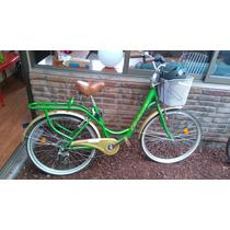 Bicicleta De Paseo Usada Mujer Con Casco Y Candado