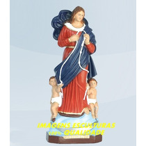 Escultura Nossa Senhora Desatadora Dos Nós Linda Imagem 35cm