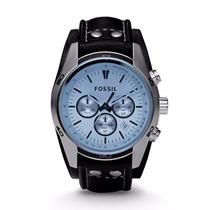Reloj Fossil Hombre Cuff Deportivo Ch2564 - Azul Y Negro