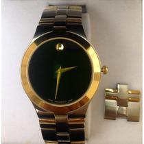Relógio Movado Suíço Ouro/requinte/nobreza/luxo/artigo Fino