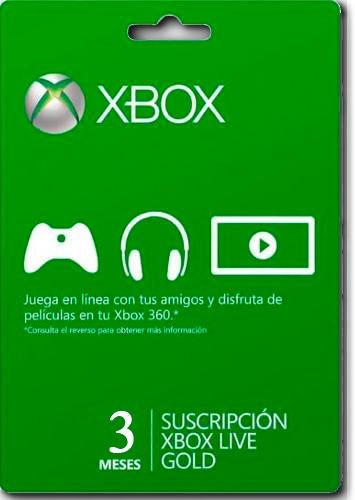 Tarjeta Xbox Live Gold 3 Meses Membresia 2 Juegos Gratis 311 00