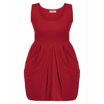 Vestido Curto Vermelho Plus Size - Festa / Balada - Roupa