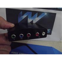 Conversor Ypbpr Video Componente Rca Av S-video Para Hdmi!