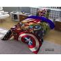Edredon Hd Capitan America Marvel Matrimonial Y Varios Mas