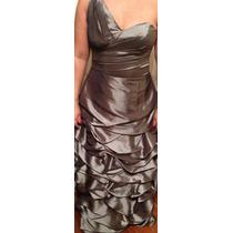 Vestido Madrinha Prata Longo - Tamanho 42