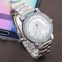 Hermoso Y Elegante Reloj Con Caballo Y Cristales