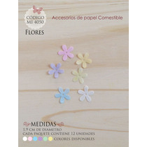 Flores En Papel Comestible Mi 4050