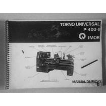 Manual De Instruções Do Torno Universal Imor P-400 I I