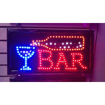 Letreros Led Para Entrada Con Slogan De Bar