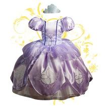 Vestido Princesa Disfraz Princesa Sofía Con Corona Y Amuleto