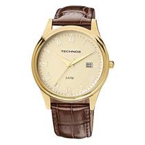 Relógio Masculino Technos Pulseira De Couro 2115gl/2x