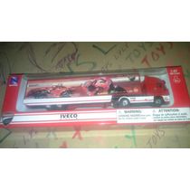 New Ray Trailers Iveco Stralis Rojo Propa Ducati Lyly Toys