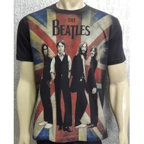Camiseta Premium - The Beatles - Bandeira