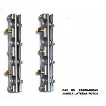 Dobradiça Com Capa Aluminio Janela Fusca Par