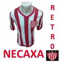 Playera Retro Jersey Necaxa Cuello V Algodón Conmemorativa