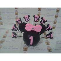 Topo De Bolo Minnie Vemelha, Minnie Rosa Ou Mickey