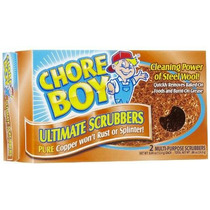 Chore Boy Cobre Decapado 4 Paquete De 2 Almohadillas