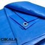 Lona Impermeável 5x4 M Plástica Azul Para Telhados Camping