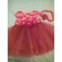 Vestido Para Bebe Tejido Coral