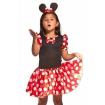 Fantasia Infantil Minnie Miney Minie Luxo