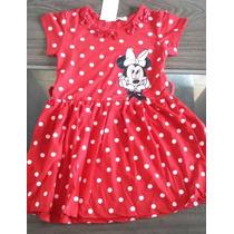 Vestido Minnie Importado Com Bolinhas Rodado Fita Cintura