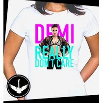 Camiseta Demi Lovato Baby Look Regata Blusa Camisa