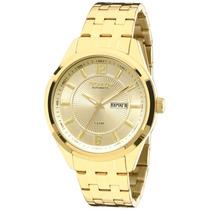 Relógio Technos Masculino Dourado Automático 8205nk/4x