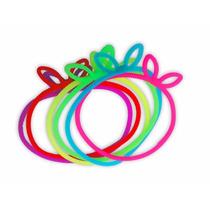Lote C/ 100 Pulseirinhas De Silicone Coloridas Da Moda