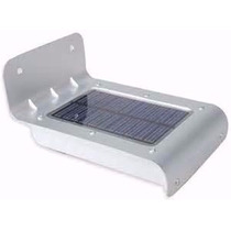 Luminária Parede Solar 16 Leds 36hrs De Luz Sensor Movimento